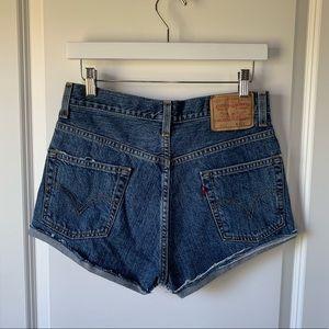 Levi's vintage 505 high rise denim shorts